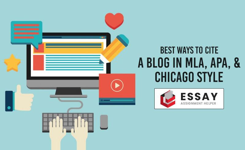 how to cite a blog