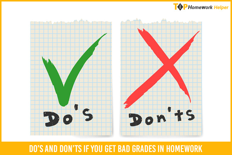Do's And Don'ts If You Get Bad Grades In Homework