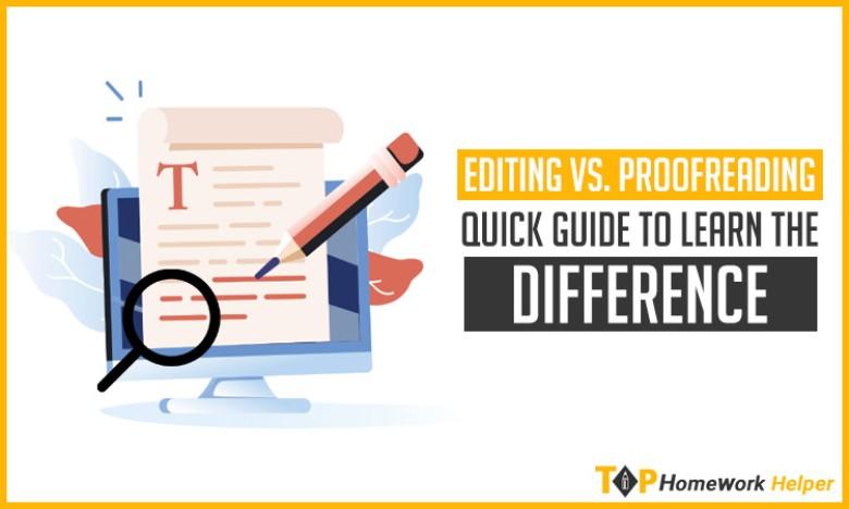 Editing Vs. Proofreading