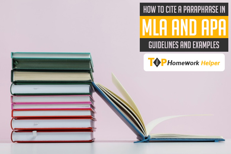 How to Cite a Paraphrase in APA & MLA